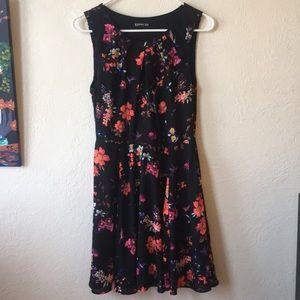 EUC Floral A-line Dress